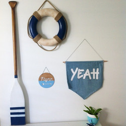 Instagram - Flynn's bedroom wall, I keep adding #coastalstyle Tap for details