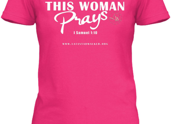 This Woman Prays Baby Doll Tee