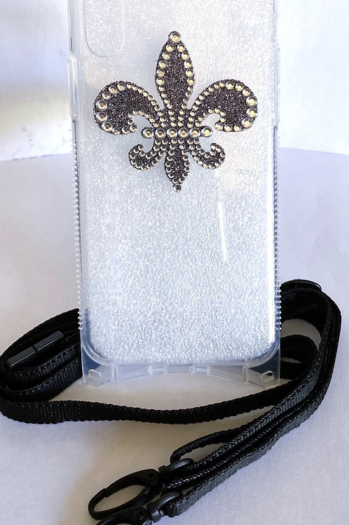 Bling iPhone X / Xs Lanyard Case