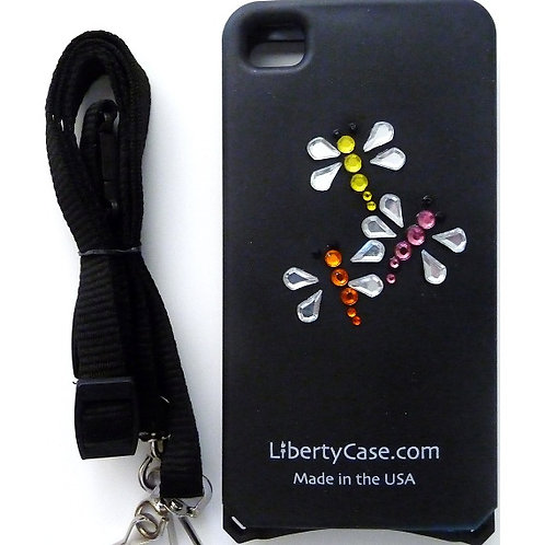 Black Bling Fire Fly iPhone 4/4s Case