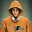 Thumbnail: Orange Hoodie with Male Freedom Graphic
