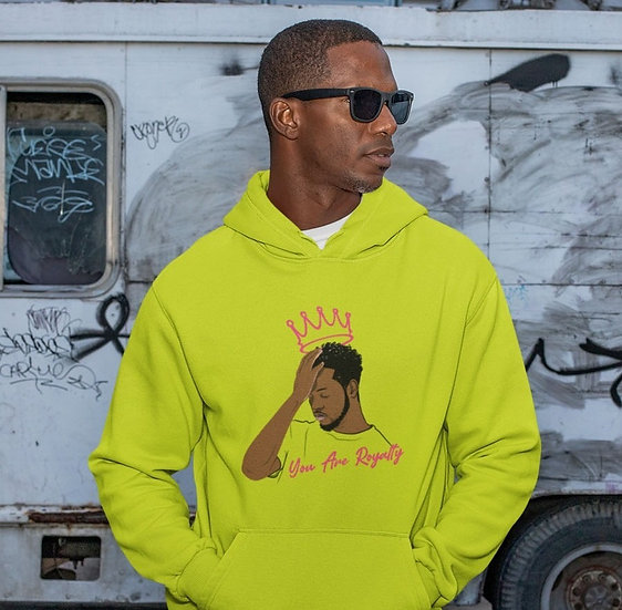 You Are Royalty (King) Safety Green Hoodie