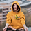 Thumbnail: Orange Hoodie with Female Freedom Graphic
