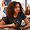 Thumbnail: Black Tee Shirt With You Are Royalty Girls Graphic