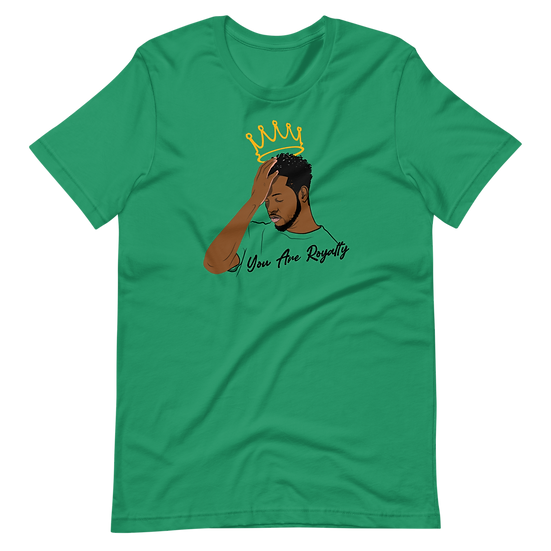 Irish Green Tee Shirt with You Are Royalty King Graphic