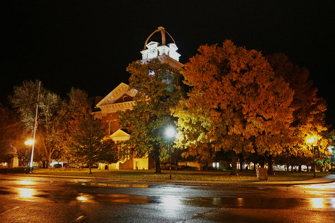 """Saline County Courthouse Fall Night"" Brad Bartlett"