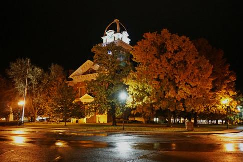 """Saline County Courthouse Fall Night"" Brad Bartlett"