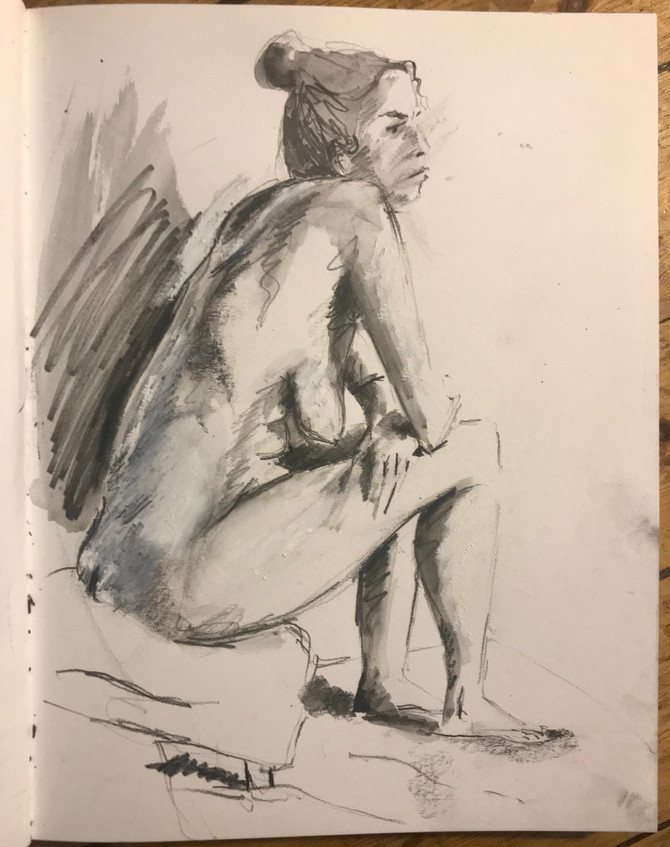 Life drawing! graphite, charcoal and oil pastel sketches. First life drawings I've produced in a