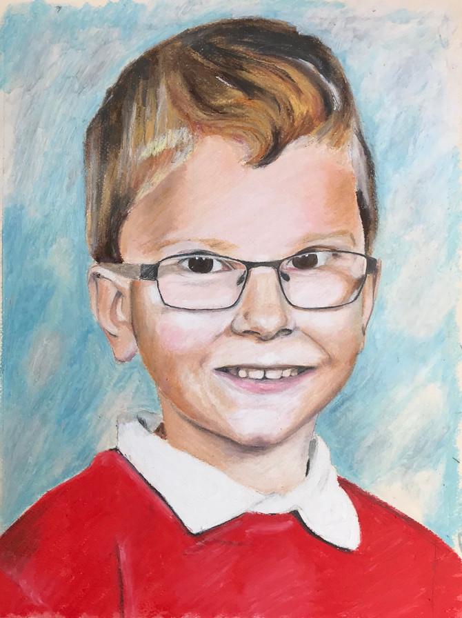 Noah! Latest oil pastel portrait, commission.