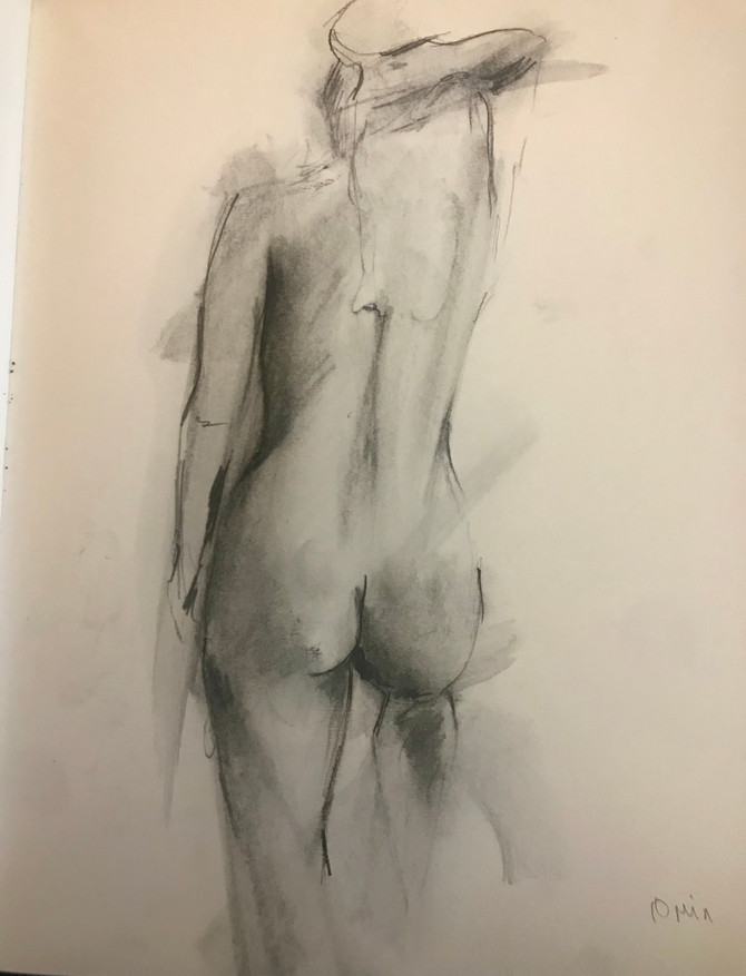 Tonight's life drawing. Always prefer the quick sketches.