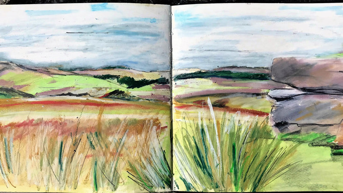 Princetown. A walk on the moor followed by a sketch, only thing is I forgot the water for my Paints.