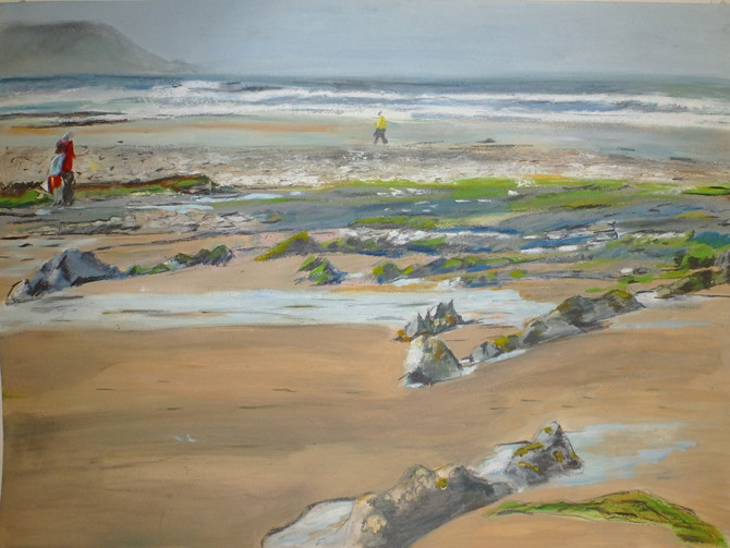 Pleased to see my picture on display in St Ives Society of Artists gallery.