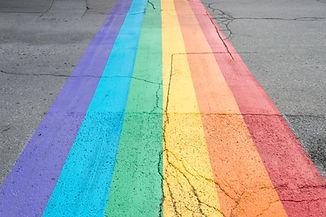 Gay rainbow flag