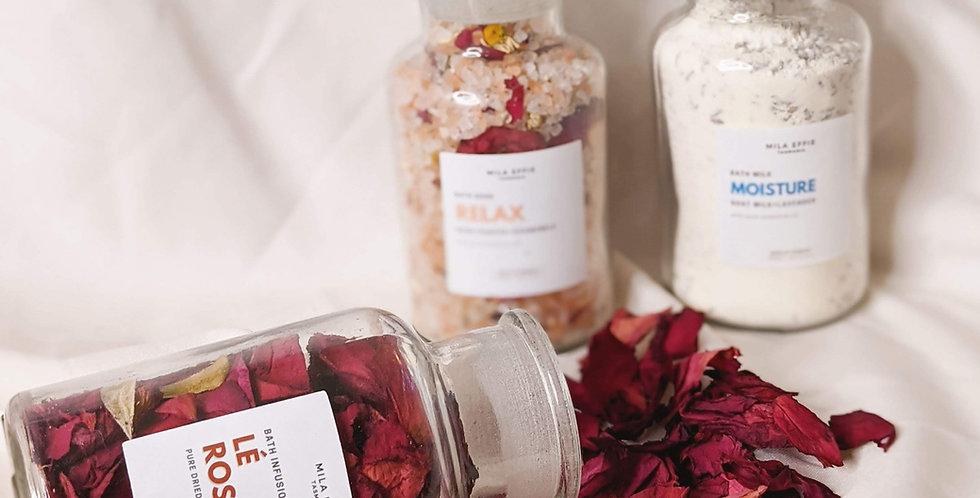 Lè Rose- Dried rose bath infusion