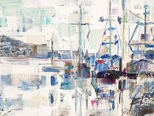 Dock Tight by John Burrow 23x23cm