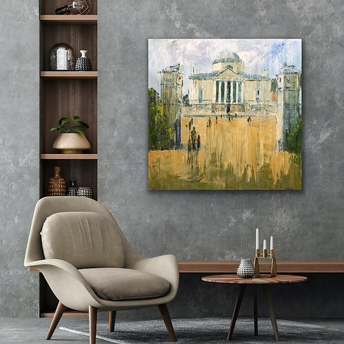 Chiswick House by Jane Vaux 100x100cm