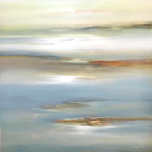 Calming Vision by Lisa Ridgers 100x100cm