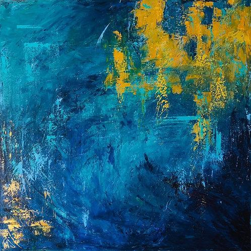 Reflections 2 by Jane Vaux 100x100cm