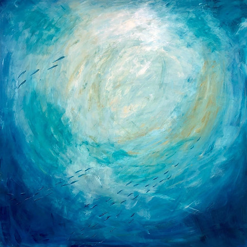 Golden Light by Jane Vaux 100x100cm