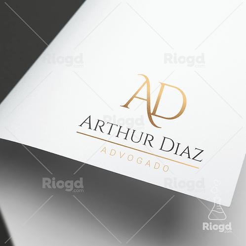Logotipo pronto para Advogados Golden White