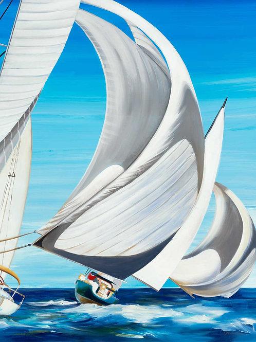 On the Open Seas by Liz Jardine 40x30cm