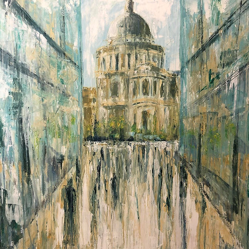 Reflections of  St. Pauls Cathedral by Jane Vaux