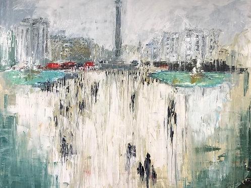 Trafalgar Square by Jane Vaux 120x100cm