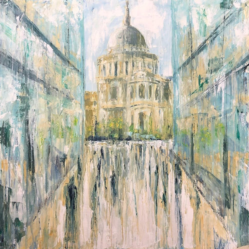 St Pauls Reflections Jane Vaux - by commission