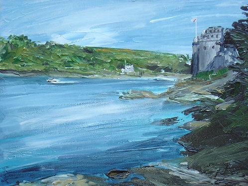 Dartmouth Castle by Jane Vaux 50x40cm