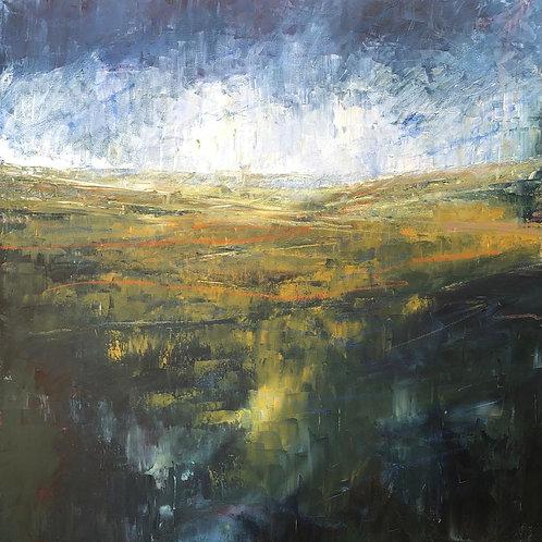 Stormy Horizons - by Jane Vaux - 90x90cm