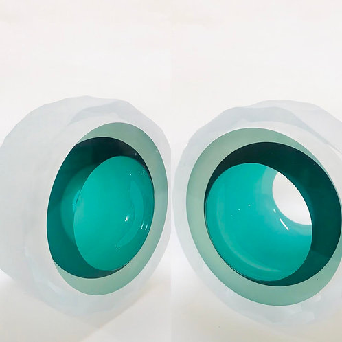 Medium Cut Glass Iceberg by Graeme H