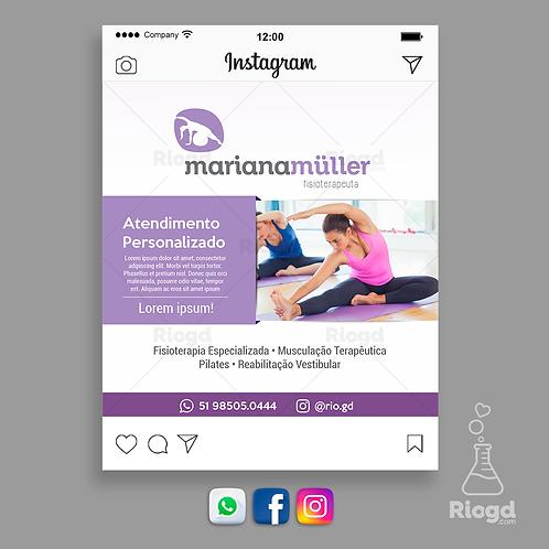 Flyer Digital para Whats e Redes Sociais - Coleção Equilíbrio