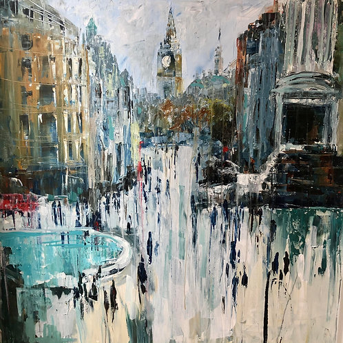Walking to Big Ben by Jane Vaux