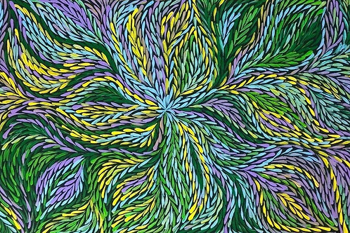 Bush Medicine Leaves, Jeannie Petyarre 100x50cm