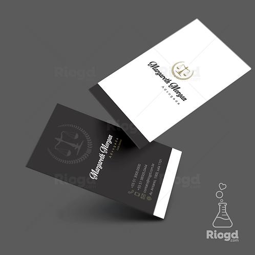 Cartão de Visita Personalizado para Advocacia Noble Prime