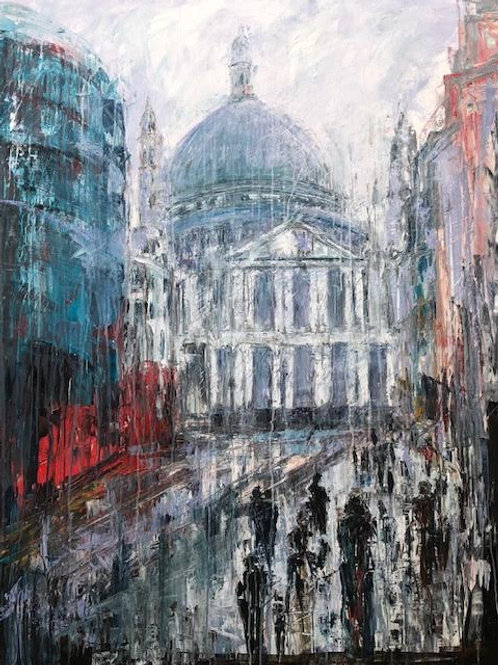 Walking to St. Pauls Cathedral by Jane Vaux