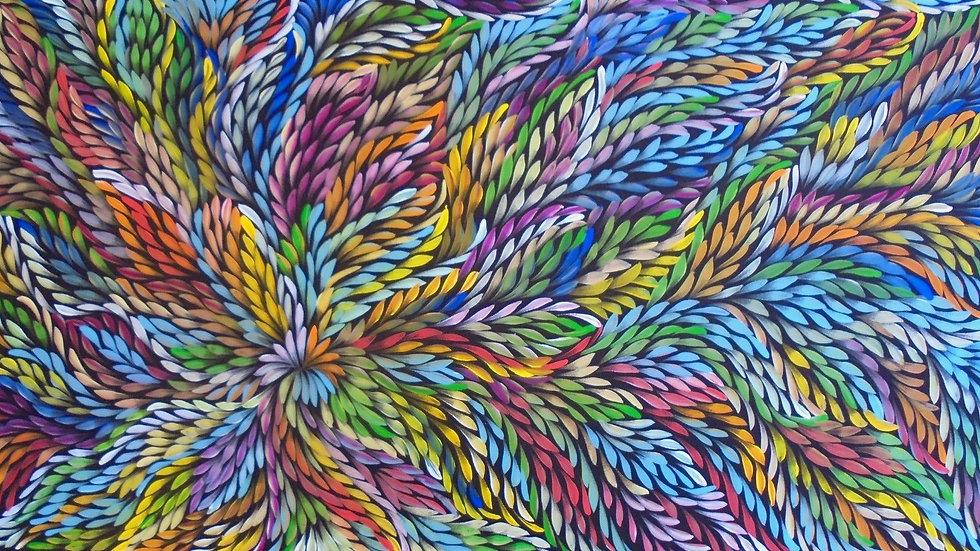 Bush Medicine Leaves by Caroline Numina 135 x 80cm - 53x 31inch