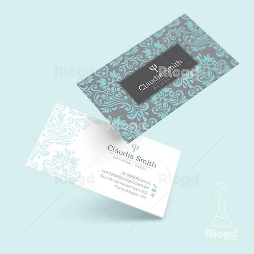 Cartão de Visita Personalizado para Psicólogos Dubai