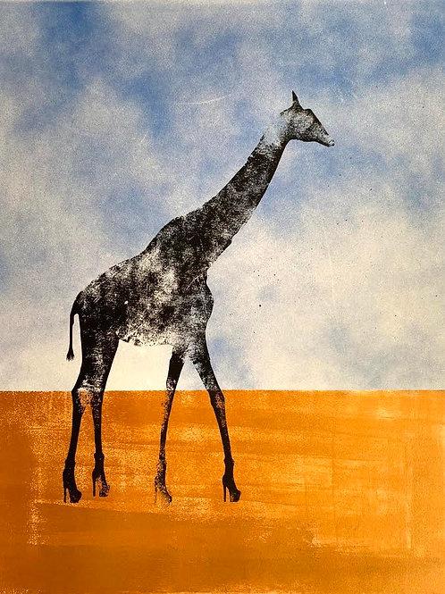 Giraffe in Heels by Rennie P 76x56cm