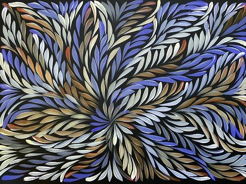 Bush Medicine Leaves, Caroline Numina 52x36cm