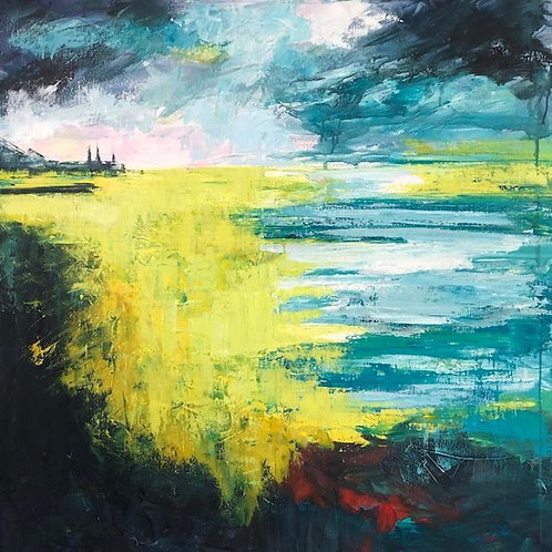 Horizon by Jane Vaux 100x100cm