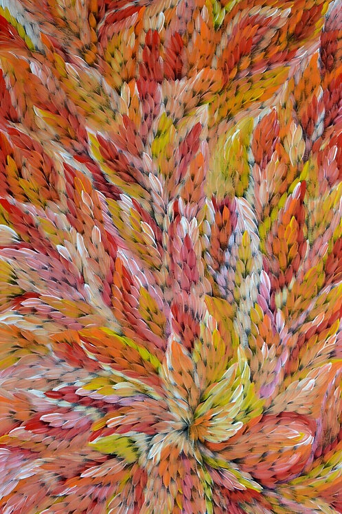 Bush Medicine Leaves, Caroline Numina 150x100cm
