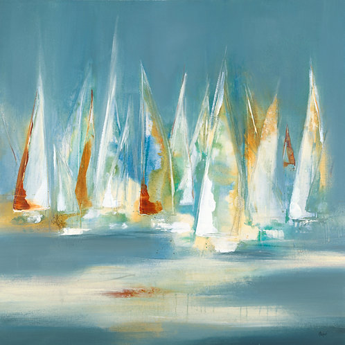 Full Sail by Lisa Ridgers 50x50cm