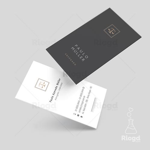 Cartão de Visita Personalizado para Advocacia Contemporâneo Chumbo