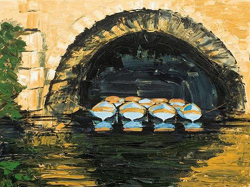 Oxford Boats  by Jane Vaux 50x40cm