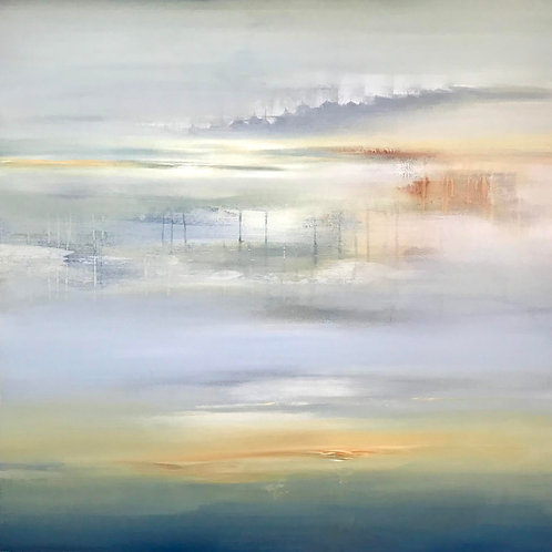 Dream State by Lisa Ridgers 100x100cm