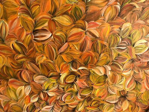 Bush Medicine Leaves by Jacinda Hayes 143x114cm