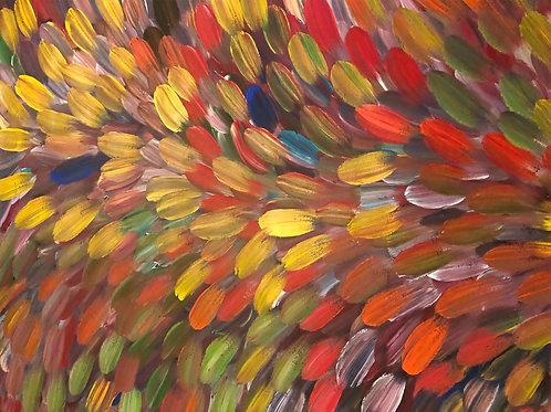 Bush Medicine Leaves, Louise Numina 139x95cm
