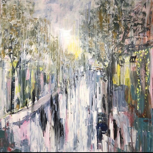 Devonshire RD Sunset Street Jane Vaux - by commission