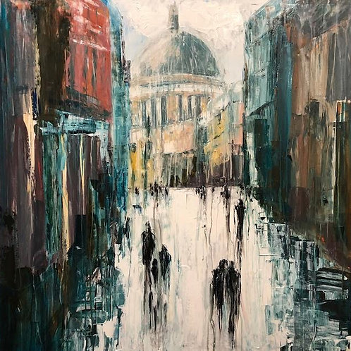 Walking of  St. Pauls Cathedral by Jane Vaux